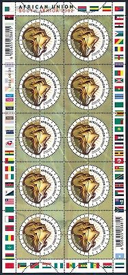 "South Africa 2002 ""African Union Summit"" Sheet of (10) x R1.50 stamps"