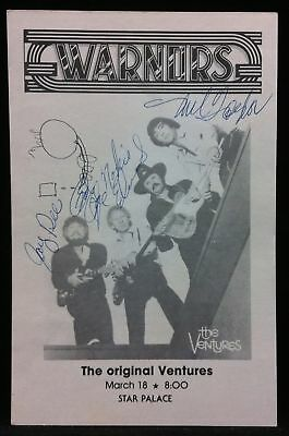 VENTURES Autographed Signed Warnors Star Palace Concert Handbill Flyer