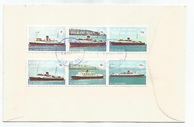 Calf Of Man 1971 Ships Set Of 6 On First Day Cover