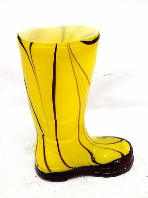 Laguna Art Glass Yellow Wellington/Welly Boot Vase/Ornament  - C77