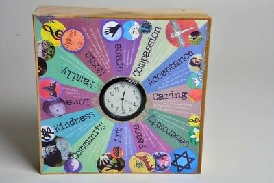 Christmas Gift From Neil Diamond & Rae Hand Crafted Clock In Wooden Block RARE!