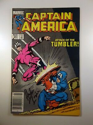 """Captain America #291 """"Attack of the Tumbler!"""" Signed Herb Trimpe!! VF+ Condition"""