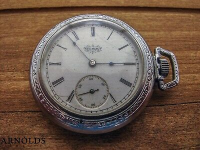 1893 Elgin 7J Grade 117 Pocket Watch For Repair