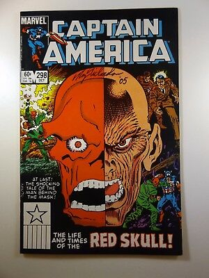 """Captain America #298 """"Life and Times of The Red Skull!"""" VF Signed R. Richardson"""