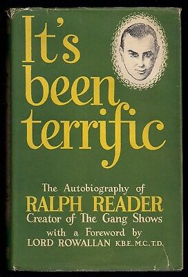 1953 - British Boy Scout Book - Ralph Reader Autobiography - SIGNED - Gang Show