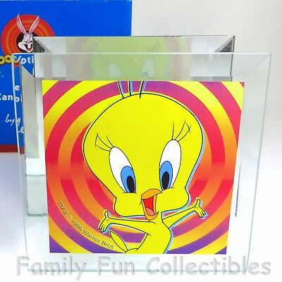 LOONEY TUNES~1996 Dale Tiffany Mirrored Glass Candle Holder~Tweety Bird~NEW NOS