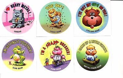 2017 Garbage Pail Kids Battle Of The Bands Gross Bears Set 6/6 Cards