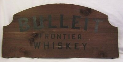 New Wooden BULLEIT FRONTIER WHISKEY Decorative Display Barware Sign