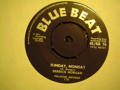 Uk Blue Beat Bb 76-Derrick Morgan-Sunday Monday/be Stillnr Ex