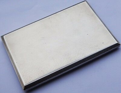 Superb Quality Heavy Antique Solid Silver Cigarette Case. John Rose; Bham 1959