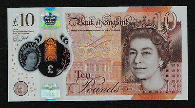 GREAT BRITAIN (PNew) 10 Pounds 2016 UNC POLYMER