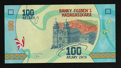 MADAGASCAR (PNew) 100,200,500 Ariary ND(2017) UNC