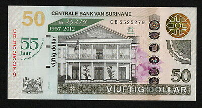 SURINAME (P167) 50 Dollars 2012 UNC COMM. With folder