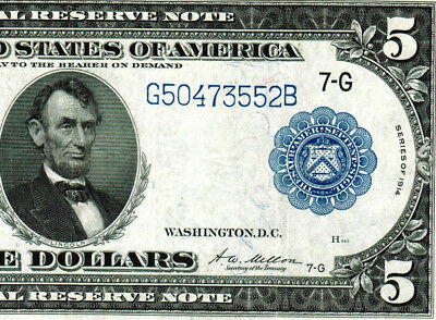 $5 1914 (( Federal Reserve Note )) ** MORE CURRENCY FOR SALE**