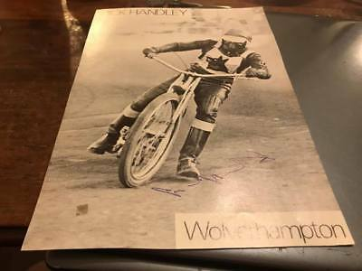 Wolverhampton Wolves--Mick Handley-1960's-Handsigned--Speedway--Magazine Picture