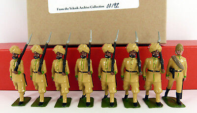 BOB YEKNIK 54mm WHITE METAL 3rd INFANTRY PUNJAB FRONTIER 8 PIECE BOXED SET