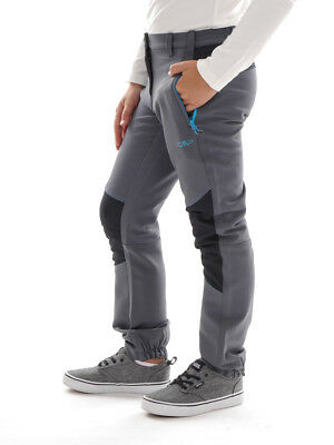 CMP Soft Shell Trousers Functional Pants Grey Stretch UV Protection dryfunction