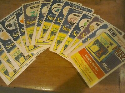 vintage 1972 how to sew weekly publications issued in USA 14 editions unused!