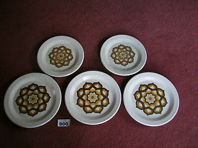 3 PALISSY KALABAR DINNER PLATES & 2 SIDE PLATES in superb condition