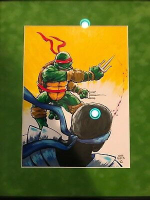 Teenage Mutant Ninja Turtles Mark Martin Raphael Artwork!! RARE!!!