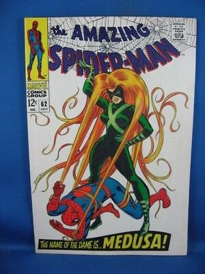 The Amazing Spider-Man #62 (Jul 1968, Marvel) F VF MEDUSA