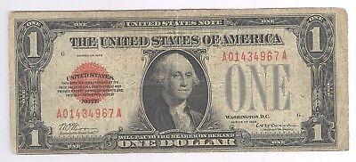 1928 $1.00 United States Note + Red Seal + FUNNYBACK + A01434967A + No Reserve!