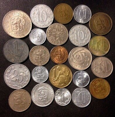 Old Czechoslovakia Coin Lot - 1922-Present - 23 Great Coins - Lot #118