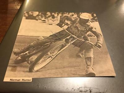 Wolverhampton Wolves-Norman Hunter-1960's-Handsigned--Speedway--Magazine Picture