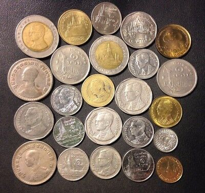 Old Thailand Coin Lot - 1944-PRESENT - 24 High Quality Coins - Lot #118