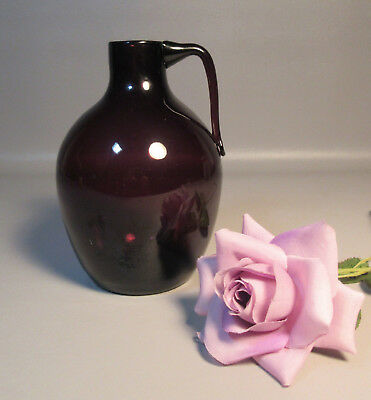 19th Century Amethyst Glass Bottle w/Applied Handle Rough Pontil Poss. Pittsburg