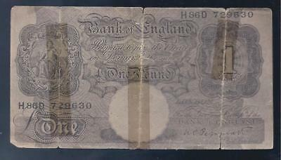 Great Britain 1 Pound German WW2 Propaganda Note with Arabic Text , Poor!