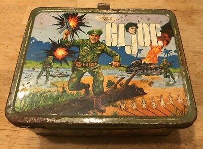 Vintage G I Joe 1967 Lunchbox Hasenfield Bros No Thermos Fair Condition