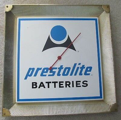 Prestolite Batteries Thermometer, Good Gold Frame With Clips