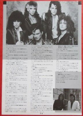Queensryche Chris De Garmo Geoff Tate 1986 Clipping Japan Magazine N4 P14