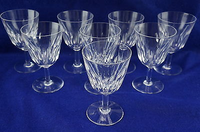 """Baccarat Lorraine (8) Tall Water Goblets, 6"""", France"""