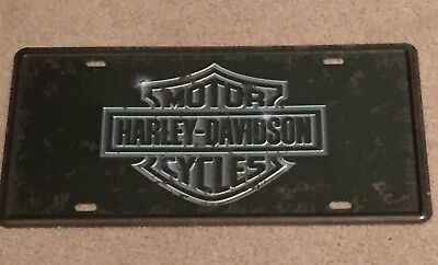 Harley-Davidson Number Plate Sign Metal Advertising Wall Plaque