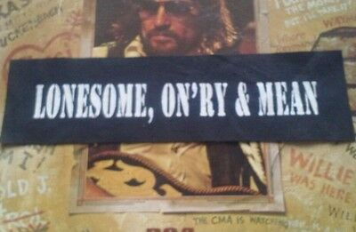 Lonesome, onry,& mean patch. Waylon jennings