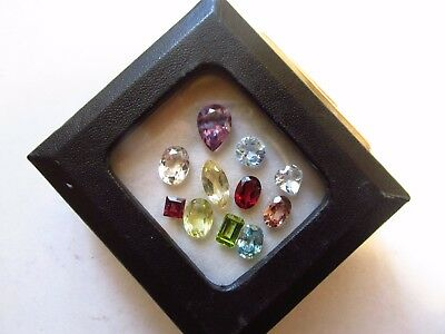 Natural Loose Mixed Faceted Gemstone Parcel Lot Cambodian Blue Zircon Pink Tourm