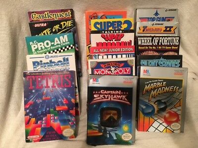 Lot of 16 NES Original Nintendo Games w/ Original Boxes