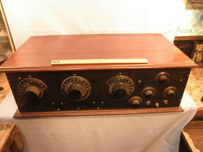 Excellent Vintage Federal Parts 5 Tube 3 Dialer Radio Receiver - Early 1920s.NR