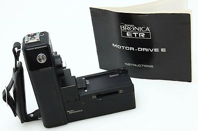 Bronica Motor Drive E for ETR , ETR-C, 6x4.5, instructions, hand strap  #362948