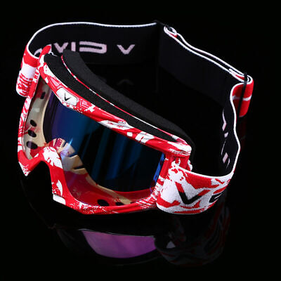 Motorcycle Motocross Riding Goggles ATV Dirt Bike Off Road Color Eyewear Glasses