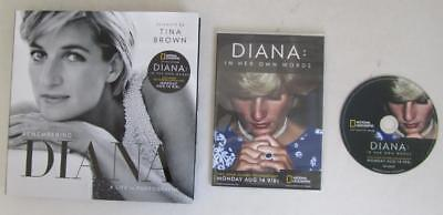 Nat Geo Channel Diana: In Her Own Words 2-hr Documentary DVD + HC Photo Book NEW