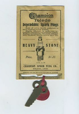 Rare Puzzle Vintage Advertising Trade Card Champion Spark Plugs Toledo OH bv2050