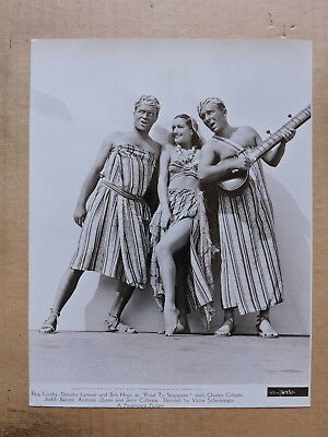 Dorothy Lamour Bob Hope and Bing Crosby portrait photo 1939 Road to Singapore