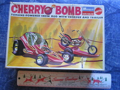 1970 Cherry Bomb Show Rod Chopper Trailer Box Instructions & Some Parts hj3347