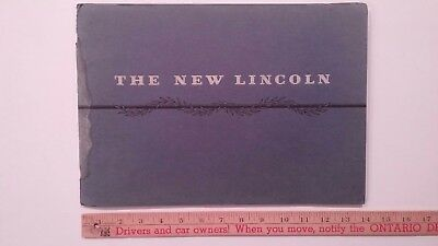 1931 LINCOLN - Prestige Color Dealer Catalog Sales Brochure - Water Damage (US)
