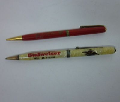 (2) Vintage Advertising Pencils Budweiser Beer Anheuser Busch St Louis MO bv1933