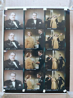 Julie Andrews and Richard Crenna color contact sheet of candid photos 1968 Star!