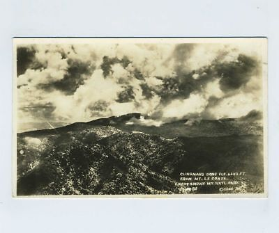 RPPC Great Smoky Mtns National Park TN Tennessee Mount Le Conte Postcard bv2108